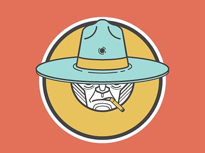 C Cowboy picto illustration character design alphabet