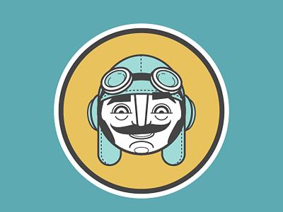A Aviateur picto illustration character design alphabet