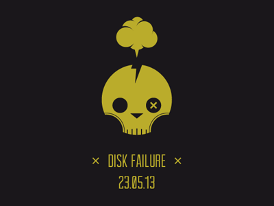 Disk Failure Ouch icon picto dead ouch