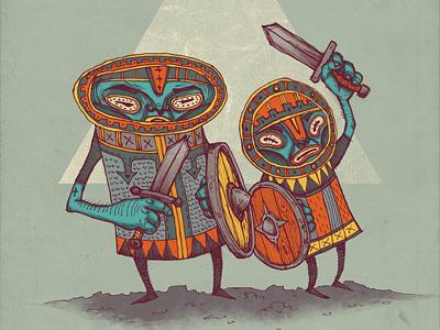 Kalos & Likis illustration drawing