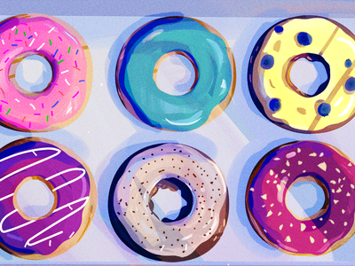 Donut Day foodie illustration donuts