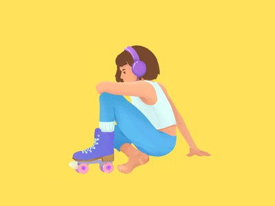 sk8r characterdesign painting drawing character design girl illustration rollerskating rollerskate