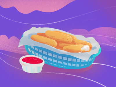 thicc mozz sticks drawing illustration food cheese mozzarella sticks