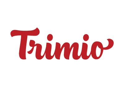 Trimio logo calligraphy lettering handmade type design identity brand logotype