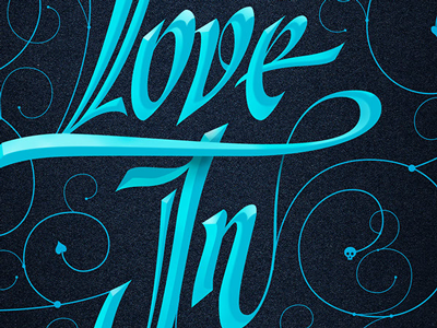 Let Love In - Typography poster letter