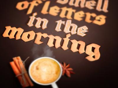 Tasty Fraktur typographic poster print calligraphy lettering