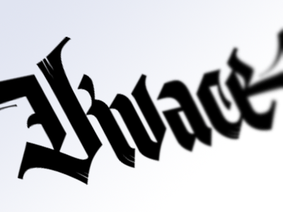 Vivace - logo for music producing brand calligraphy lettering modern blackletter street art hip-hop