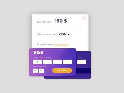 Day002 design interface daily ui form card checkout