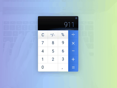 Day004 application web graphics widget design ui clean calculator