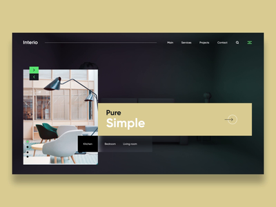 Interior design web landing screen motion smooth xd after effect ae micro interaction animation ui website home page landing page interior interior design