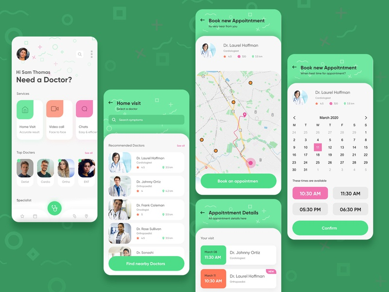 Doctor Appointment App Concept invisionstudio invision patient doctor find find a doctor medic health booking appointment booking doctor