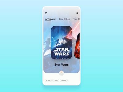 Movie App Interaction ios app animation app ui interactiondesign app design design prototype studio invision ui movie app booking app ticket booking film movie