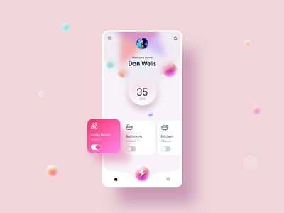 Smart home Concept UI userinterface colorful app ui design xd shot 2021 ui concept smarthome