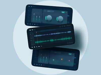 Sound Editing App simple inspiration trendy colorful voice mp3 music app ios android muzli dribbble uiux concept ui app editing sound