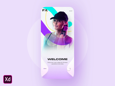 Adobe Xd Onboarding screen Concept animation xd app ui design simple standard inspiration colorful appui shot dribbble muzli interaction ux ui concept
