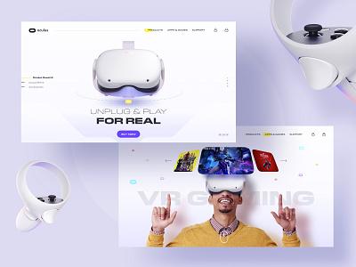 Oculus concept UI web clean colorful trendy muzli web design landing page concept virtual reality oculus rift oculus vr