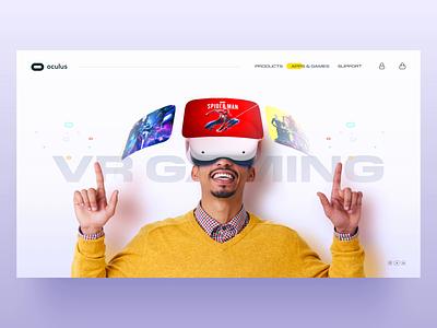Oculus Landing page Animation dribbblers dribbble web web design trendy muzli concept xd aftereffects micro interaction interaction design ui landingpage ar vr oculus