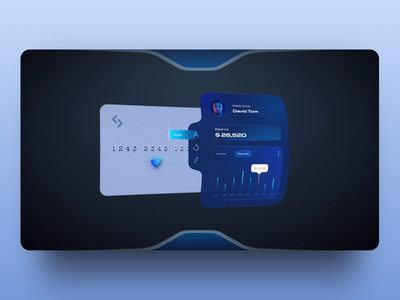 Augmented Credit Card Concept prototype blender creditcard interactions trendy modern vr augmentedreality muzli userinterface aftereffects aep animation app ui shot concept ui