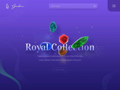 Concept UI Animation figma interface colorful concept royal ring jewellery stone gemstone ux simple inspiration uiinspirations trendy muzli blender3d aftereffects animation interaction design ui