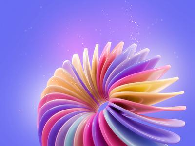 Blender Abstract Render illustration app ui shot design color icon render wallpaper background bg trendy colorful abstract concept blnder3d blender