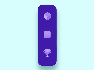 Animated Tab colorful shot concept cube trophy blue muzli trendy blender 3d 3dicon navigation nav button tab animation tab