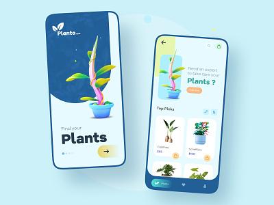 Concept UI app ecommerce plant muzli branding app ui colorful shot design concept ui