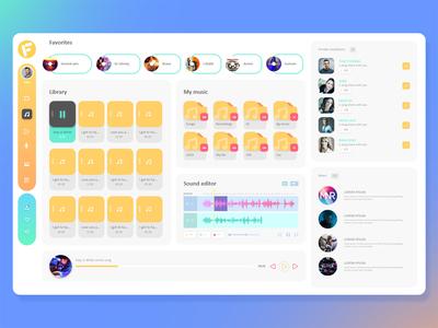 Online File Manager Concept UI