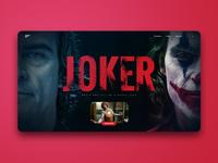 Joker Movie Landing Screen UI