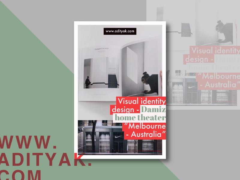 Damiz Home Theater   Branding U0026 Visual Identity Minimal Swiss Design Logo  Design Graphic Design Branding