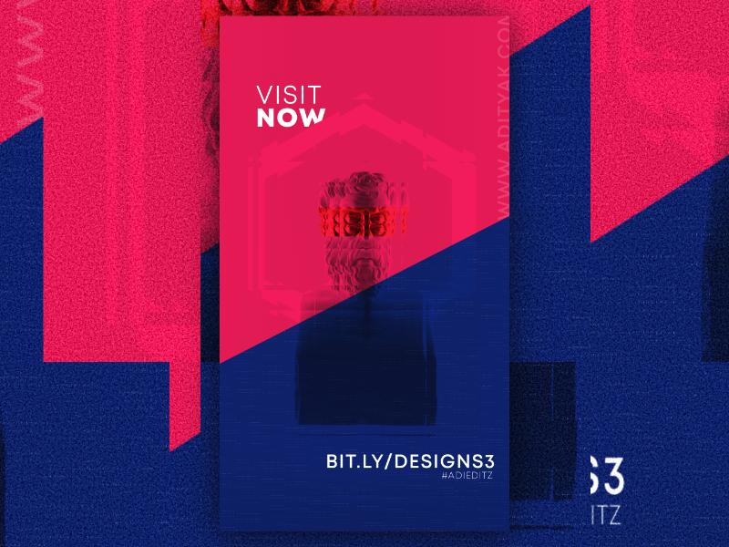 3 designs 3 days art abstract minimal logo illustration branding creative poster abstract design teaser freebie mockup