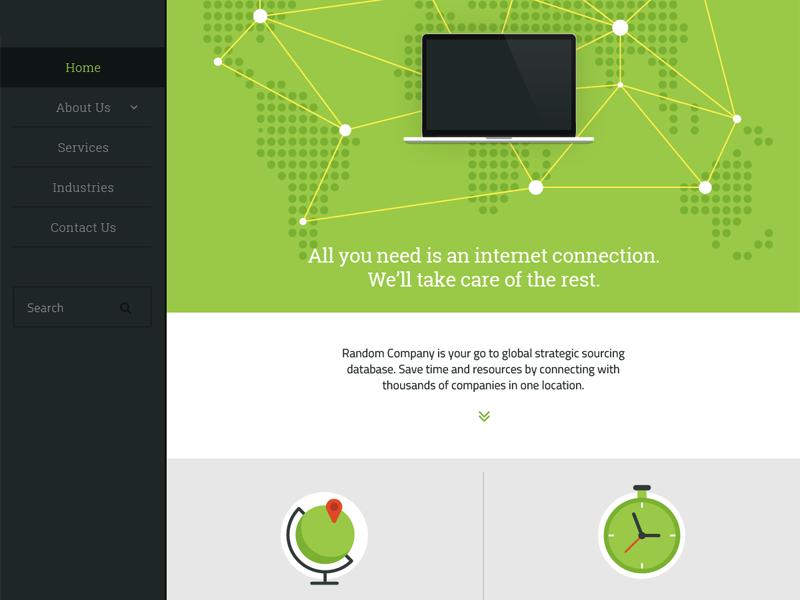 Flat Web Interface - Freebie flat website slick clean ui interface template layout minimal freebie free