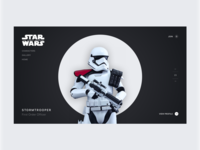 Daily UI #003— Stormtrooper Landing Page