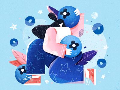 blueberries illustration 设计 design
