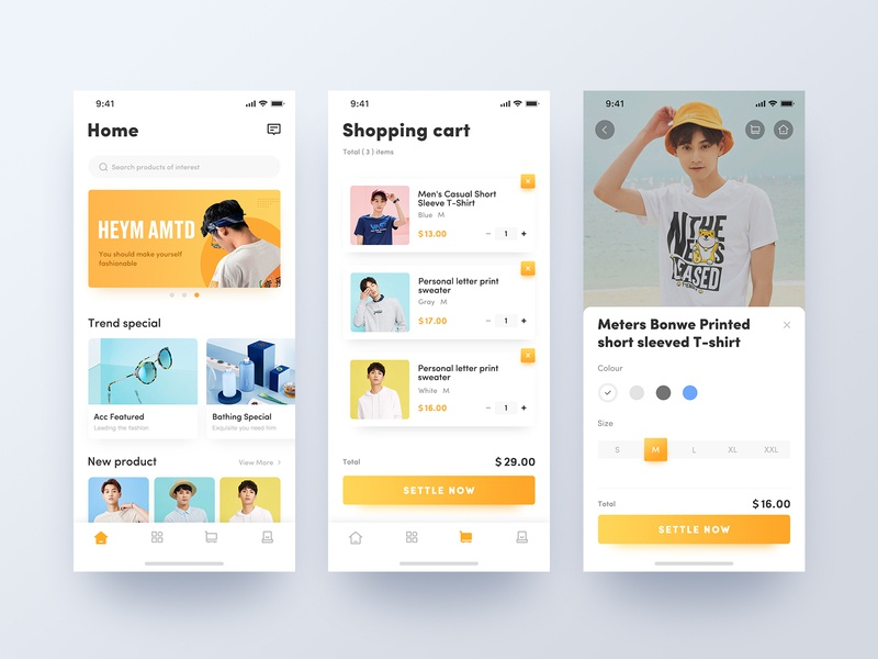 Fashion shopping mobile app fashion online store iphonex clean style e-commerce mobile app pay shopping ux ui 设计 应用