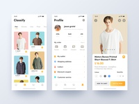 Fashion shopping mobile app2 ui  ux 插图 购物 网上商城 iphonex 时尚 电子商务 style clean design