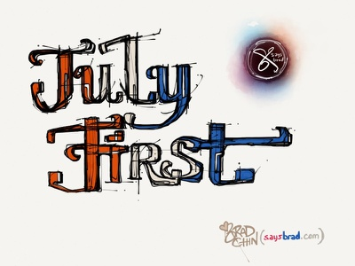 First of July holiday america july flag logo saysbrad experimental ipad ios madewithpaper