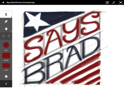 SaysBrad favicon concept adobe ideas ipad intuos stylus ios favicon concepts vector ink freehand lettering