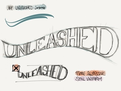 Unleashed logo concept magic madewithpaper logo conceptual lettering typography