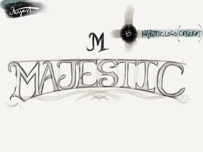 Majestic logo concept logo playing cards bicycle magic madewithpaper lettering