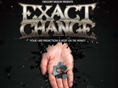 Exact Change ad logo magic gw gregory wilson illustrator vector coins lettering