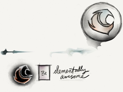 Bt Elementally Awesome bradtastic saysbrad madewithpaper circle logo conceptual