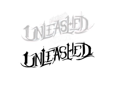 Unleashed more magic gw lettering logo ideas vector