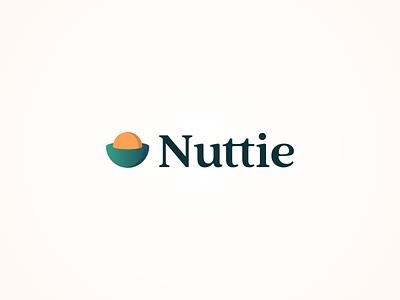 Logo concept for Nuttie, the allergy app logo design nuts restaurant app restaurant allergy typography branding ux ui app design logo