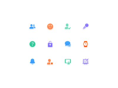 Icon set for educational app tablet school education app education app ux ui illustration icon