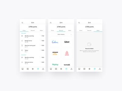 Banking app case - Rewarding loyalty with convenience empty state wallet points bank loyalty rewards mobile app mobile design ux ui app