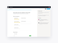 Scorecard page for recruitment software