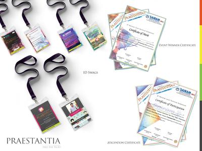 Praestantia Event   Swags & Certificate Design