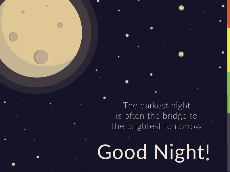 Good Night Post by Ajay Karthik on Dribbble