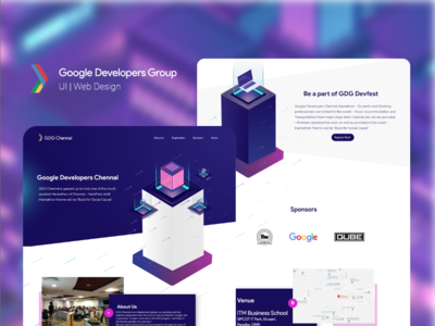 Google Developer Group Chennai   Website UI