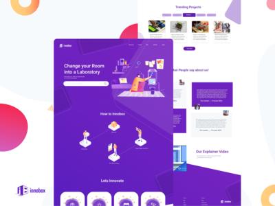 Innobox Labs   Website UI